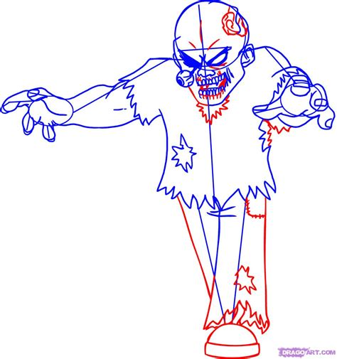 draw  cartoon zombie step  step zombies