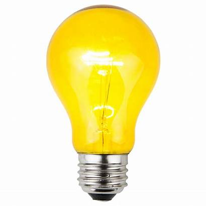 Yellow Transparent Bulbs A19 Bulb Sign Box