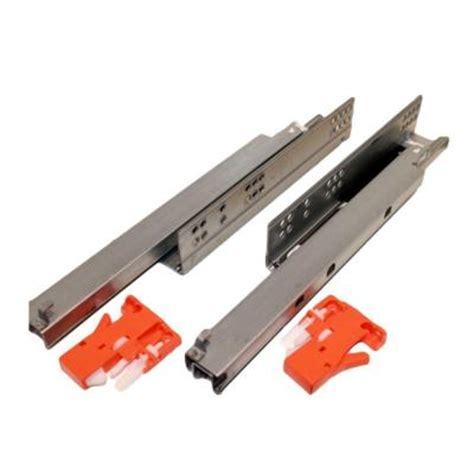 heavy duty drawer slides home depot 12 in mount push open extension drawer slide