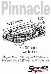Soundoff Signal Pinnacle Mini Led Lightbar
