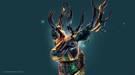 deer hd wallpaper background image  id
