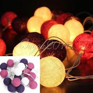 Guirlande Lumineuse Mariage : 20 boule coton lumineuse parti patio fees guirlande decor ~ Melissatoandfro.com Idées de Décoration