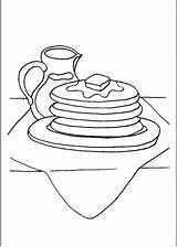 Pancakes Syrup Coloring Printable Additions Newest Freeprintablecoloringpages sketch template