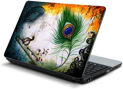 buy namo arts feather laptop skin stickers  hp dell