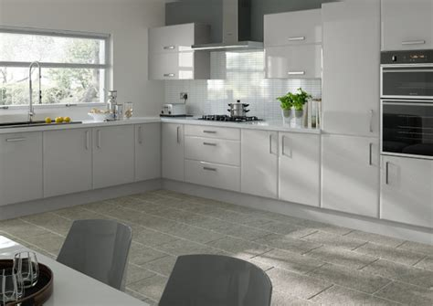 Wood Floor Ideas For Kitchens - brighton high gloss light grey kitchen doors made to measure from 4 16