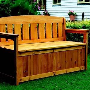 die besten 25 gartenbank mit truhe ideen auf pinterest With katzennetz balkon mit garden bench seat