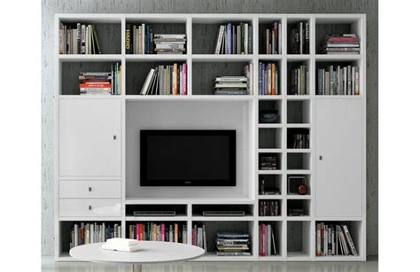 canape avec bibliotheque integree biblioth 232 que moderne murale mobilier de salon contemporain meuble et canape