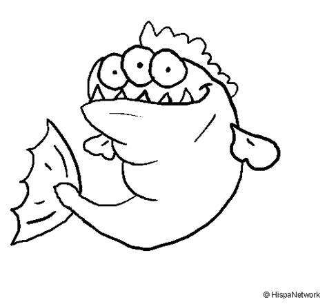 disegni di occhi da colorare disegno di piranha con tre occhi da colorare acolore