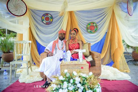 Nigerian Traditional Bride And Groom Jane And Solomon