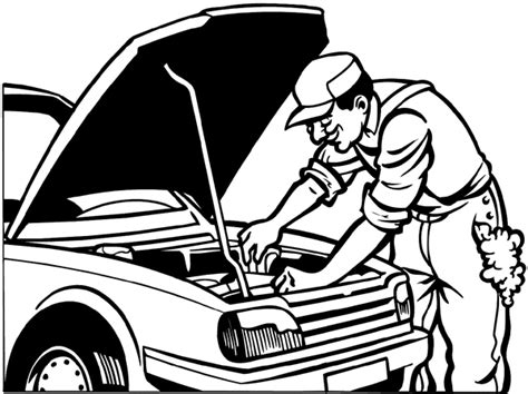 fix clipart black and white signspecialist beevault decals smiling mechanic at