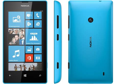 nokia lumia  wifi gps camera windows blue smart phone