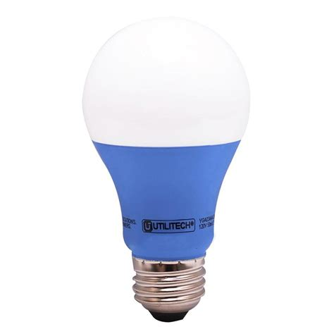 shop utilitech 40 w equivalent blue a19 led decorative