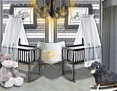 chambre de b b jumeaux idée déco une chambre de bébé douce et chic pour des