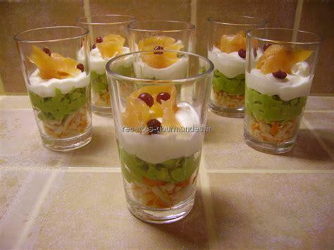 recette de dessert en verrine verrines crabe avocat