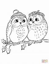 Owl Coloring Owls Pages Cute Realistic Easy Adults Drawing Printable Couple Detailed Template Getcolorings Sketch Horned Refundable Popular sketch template