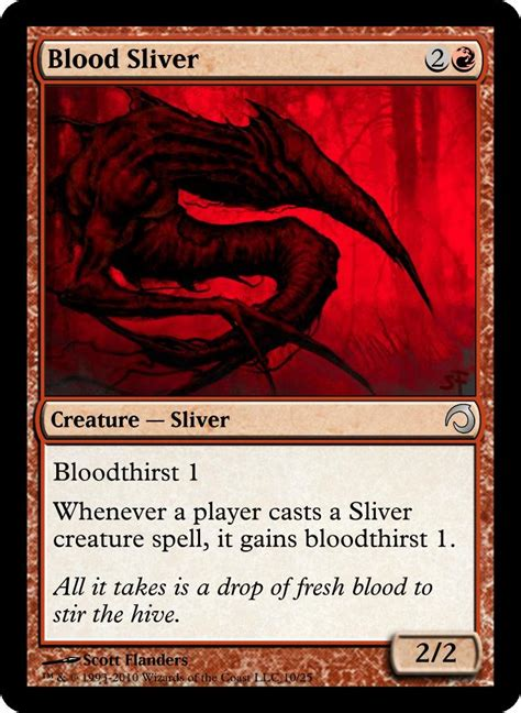 some realistic sliver cards custom card creation creativity community forums mtg