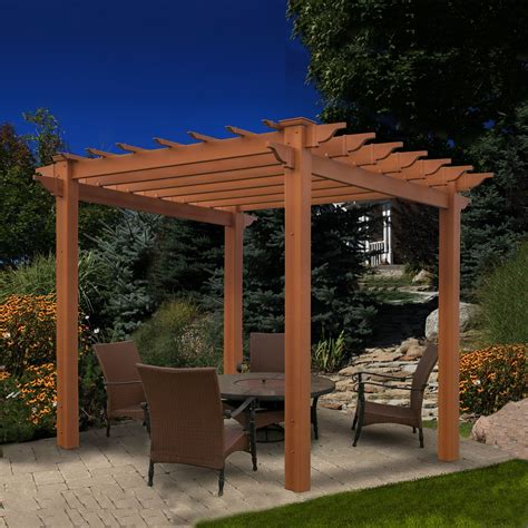 lowes pergola plans new england arbors va84044 eden lakewood pergola lowe s