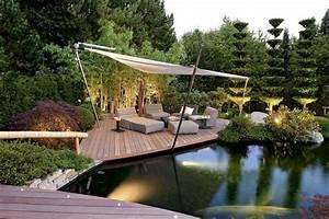 Moderne Gartengestaltung Mit Holz : teichgestaltung teich im garten terrassengestaltung mit holz outdoor living garten ~ Eleganceandgraceweddings.com Haus und Dekorationen