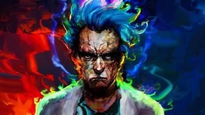 Rick Morty 4k Sanchez Colorful Movies Painting