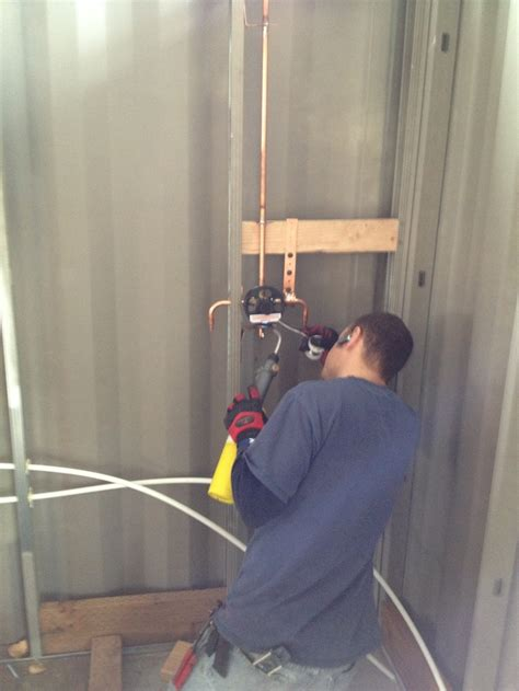 plumbing  shower shipping container home