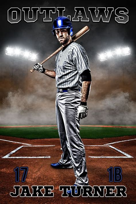 player banner photo template   smoke baseball