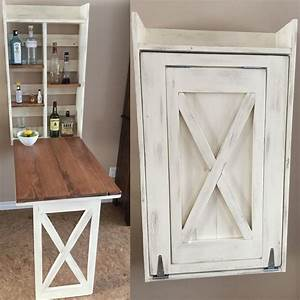 Ana White Drop down murphy bar - DIY Projects Wood