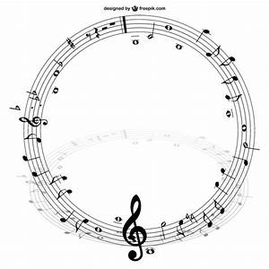 Music notes circle vector Vector | Free Download