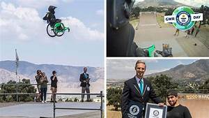 Aaron Fotheringham Jumps 70 Ft As He Sets Three Extreme Wheelchair Records Despite Dramatic