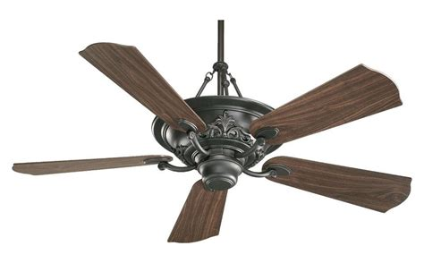 fan and lighting world quorum three light old world ceiling fan black 83565 95