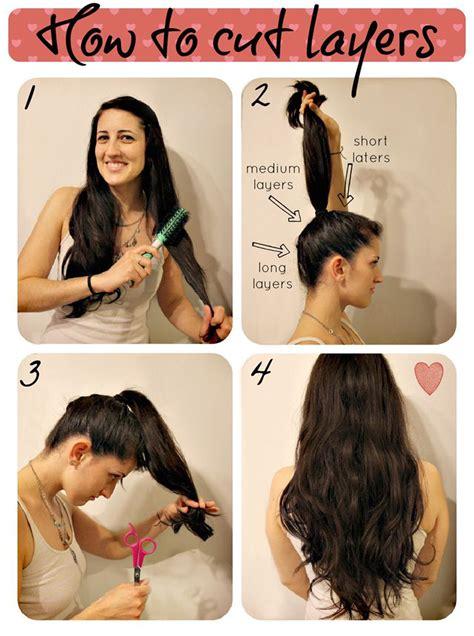 easy ways  layer cut   hair  home gymbuddy
