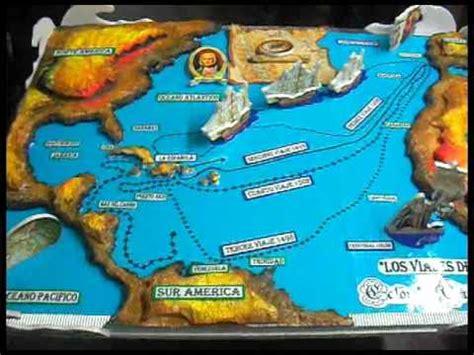Rutas De Los Barcos De Cristobal Colon by Mapa Los Viajes De Cristobal Col 211 N Youtube