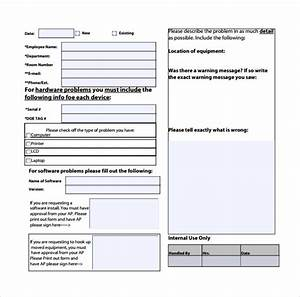 Equipment Repair Form Template 13 Computer Service Request Form Templates To Download