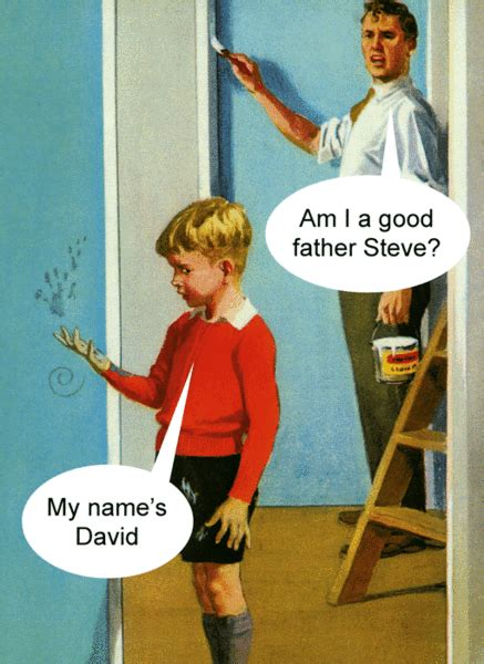 funny greeting card    good father steve comedy