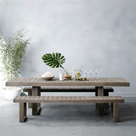 west elm bench table portside expandable dining table west elm