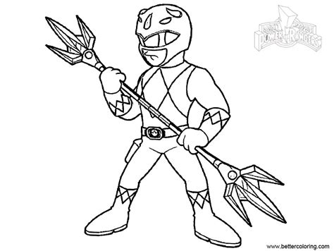 Outstanding Mighty Morphin Power Rangers Coloring Pages