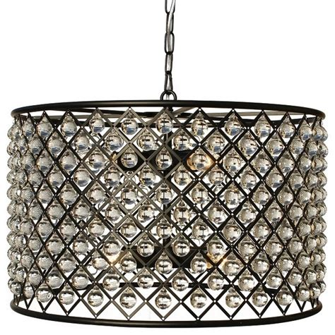 cassiel rubbed bronze drum chandelier