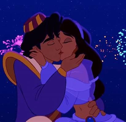 Aladdin Disney Jasmine Kiss 1992 Aladin Meets