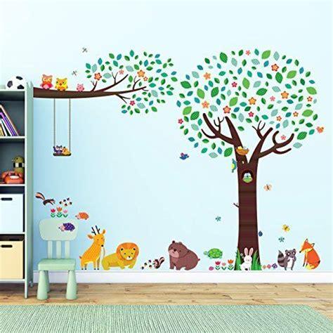 Wandtattoo Kinderzimmer Tiere Groß by Wandtattoo Wandsticker Kinderzimmer Baby Wald Baum