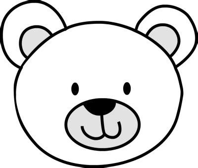 polar bear face outline teddy bear face