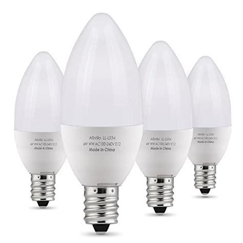 bulbs watt candelabra led 60 equivalent bulb e12 pack warm base daylight chandelier 5000k dimmable lamp albrillo light amazon 5w