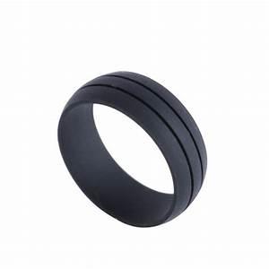Flexible Silicone Rubber Wedding Band Ring Men Women