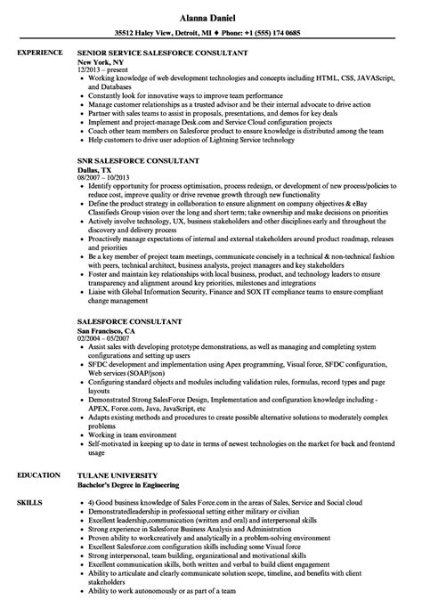Salesforce Consultant Resume Samples | Velvet Jobs