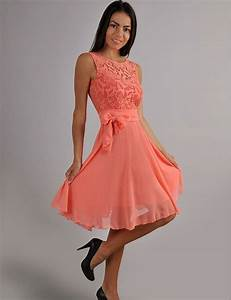 coral chiffon dressevening dress cute dress bridesmaid With coral dress for wedding