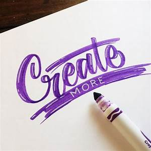 503 best images about doodle lettering on pinterest With crayola markers for hand lettering