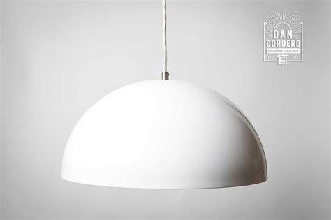 dome light fixture pendant light fixture edison bulb white dome dan cordero