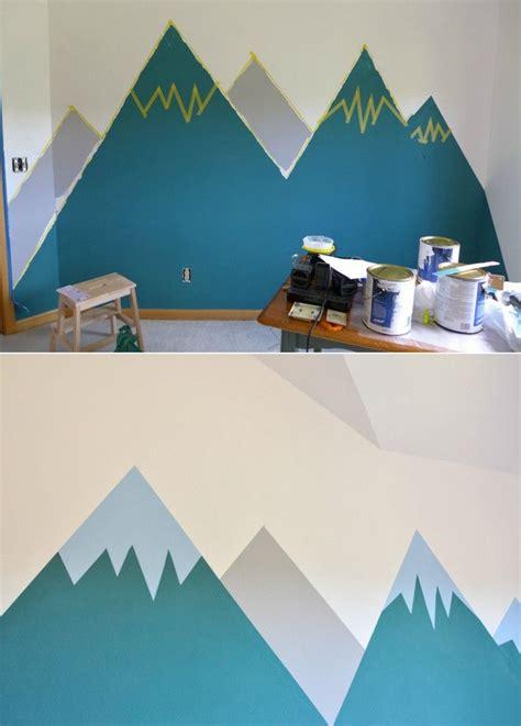 Wandgestaltung Für Kinderzimmer Streichen by Wandgestaltung Farbe Anleitung Wand Berge Gestalten