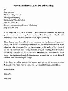Letter To Ask For Recommendation Letter Of Recommendation For Scholarship And How To Make