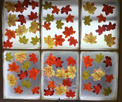 window decorations for fall decorate a window for fall inner child fun