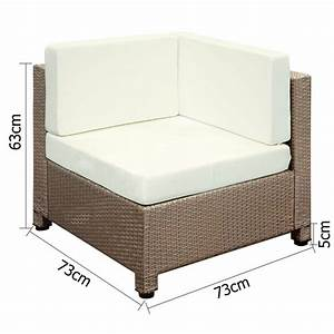 Rattan Lounge Set : 6 pcs brown wicker rattan 5 seater outdoor lounge set beige ~ Orissabook.com Haus und Dekorationen