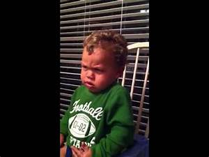 Baby mean face & laughing - YouTube